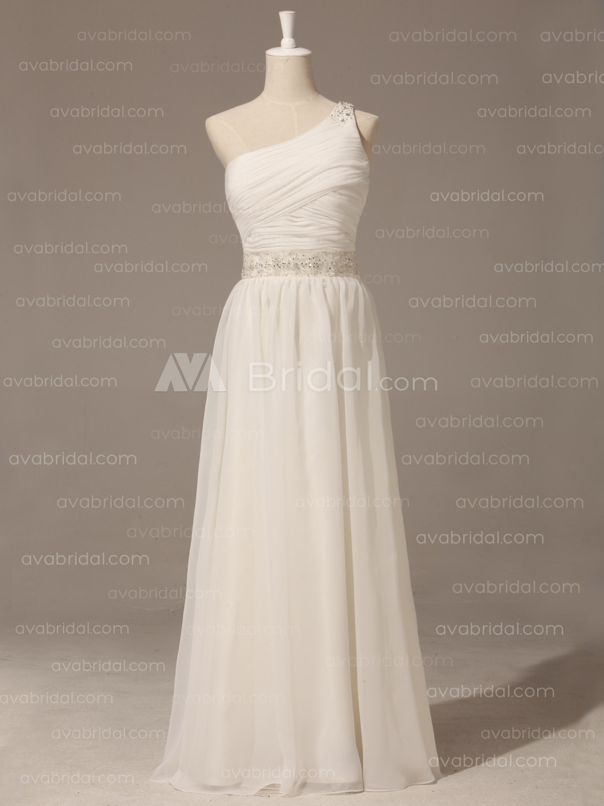 Grecian Goddess Wedding Dress - Pamela - Front
