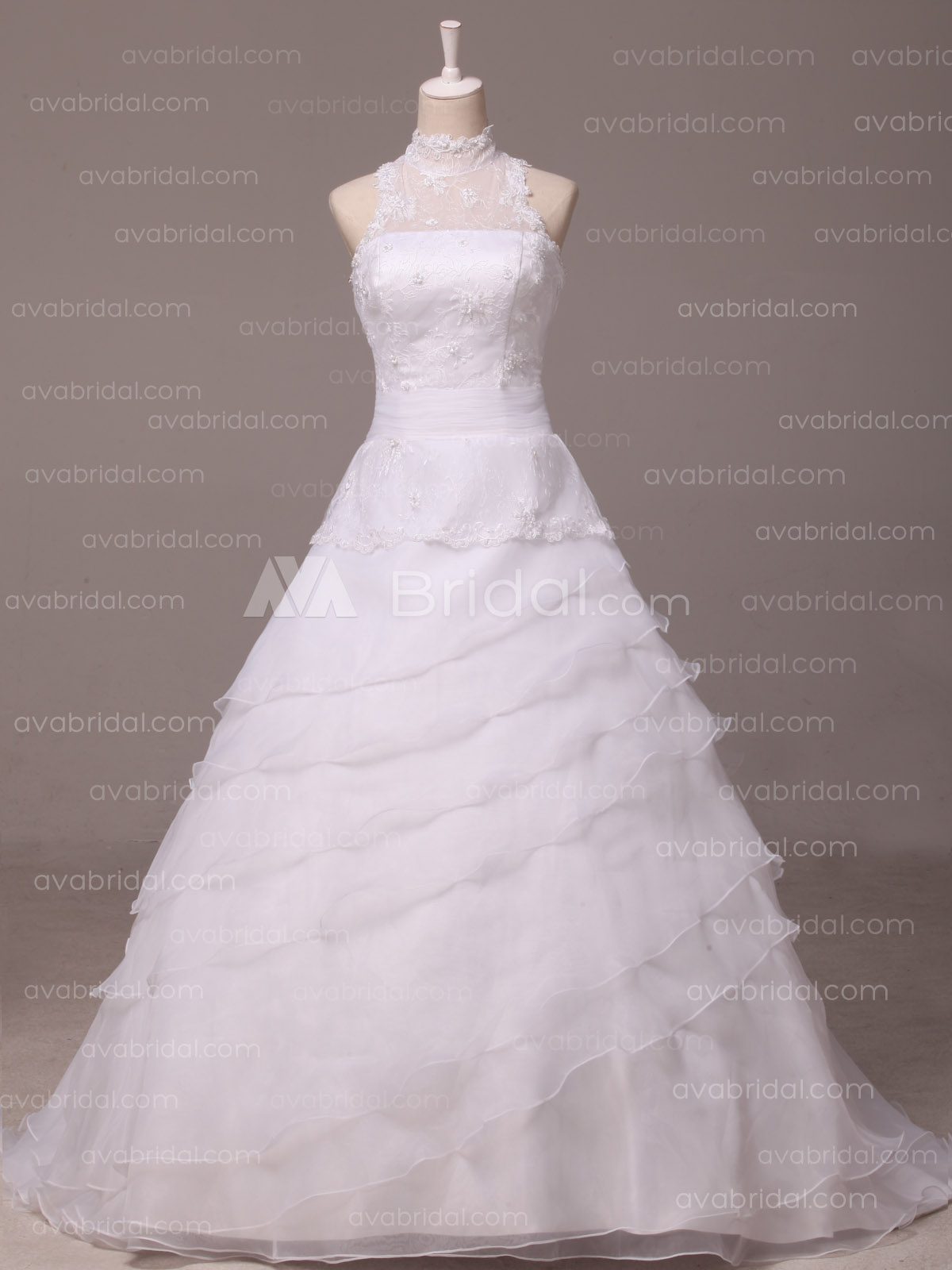 Vintage Inspired Wedding Dress -  Ierne - Front