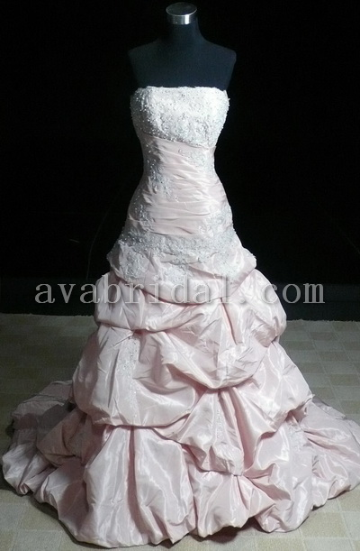 Pink Wedding Gown - Cathy - Front