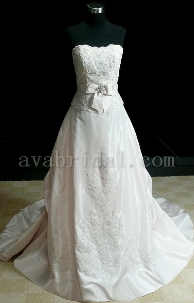 Baby Pink Bridal Gown - Peggy - Front