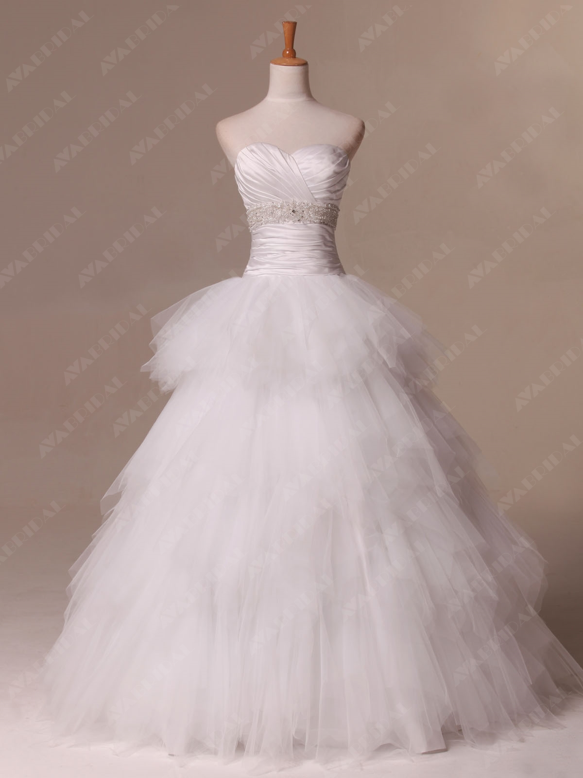 Princess Wedding Dress - Carolina - Front