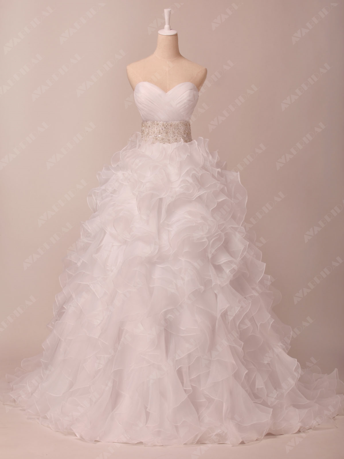 Princess Layered Wedding Dress - Leila - Front