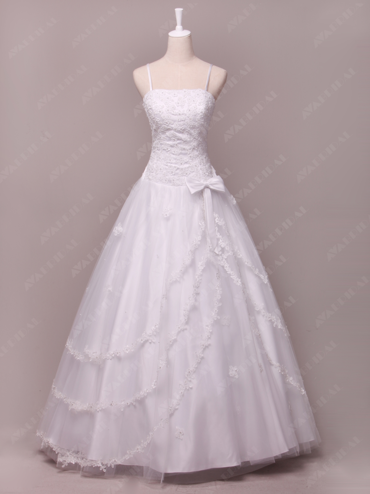 Classic Princess Bridal Gown W795-Front