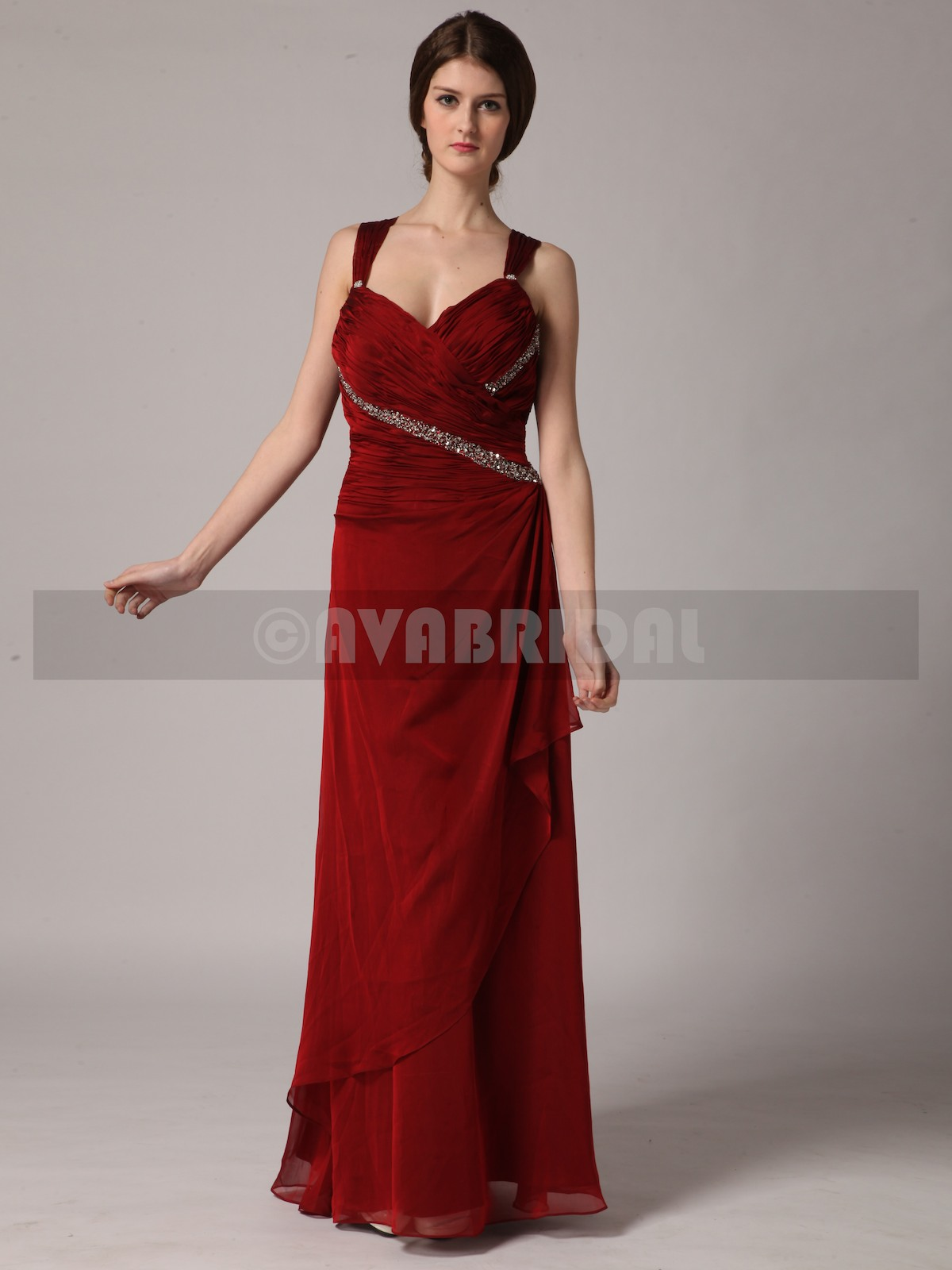 Timeless Chiffon Bridesmaid Dress B437-Front