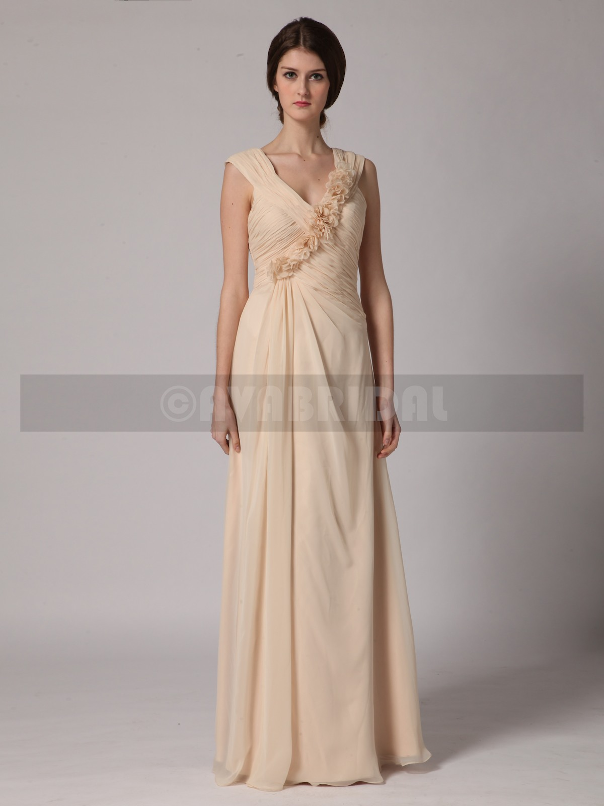 Beach Casual Bridesmaid Dress B440-Front