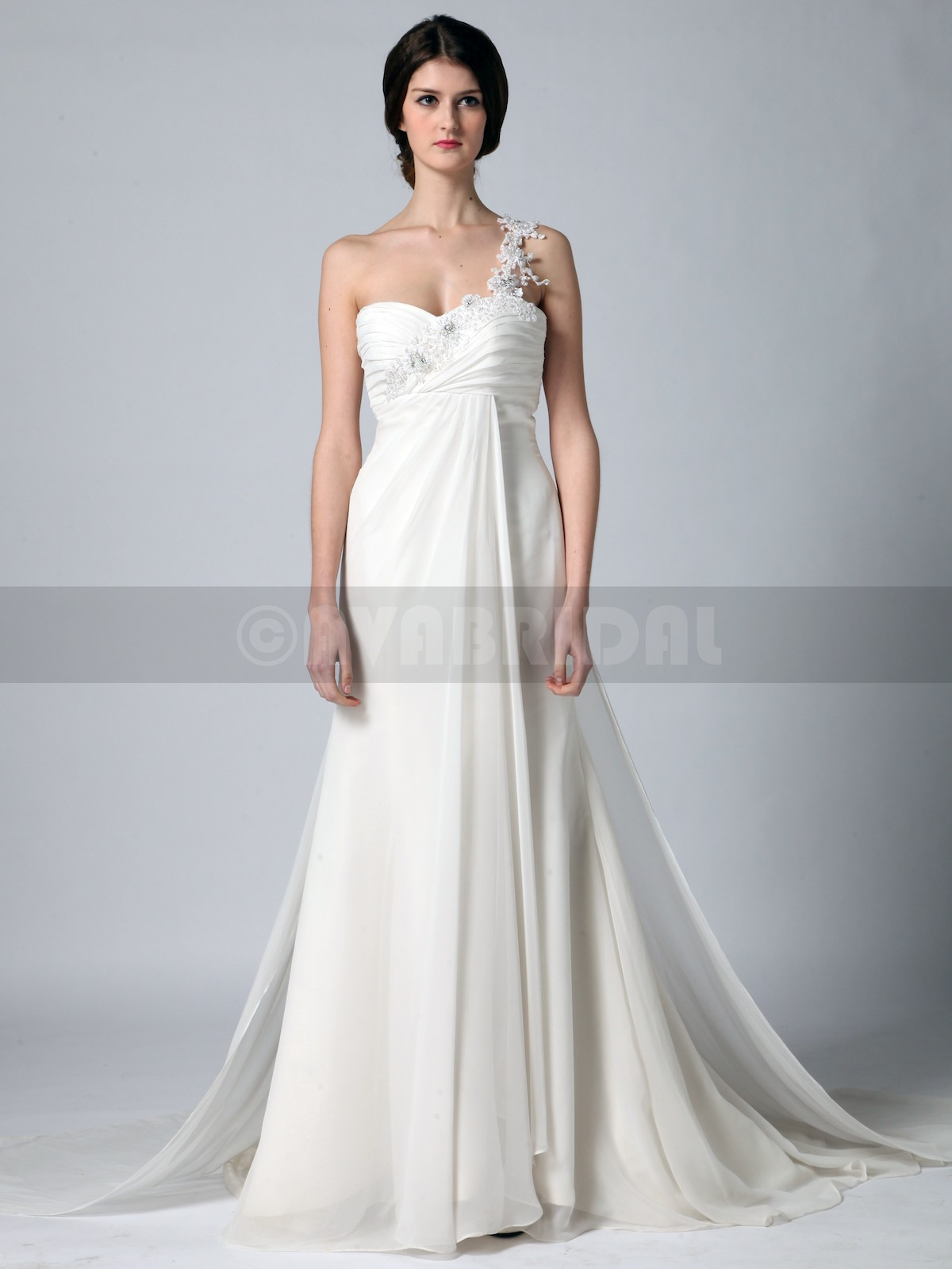 Grecian goddess wedding dress lydia ava bridal for Grecian goddess wedding dresses