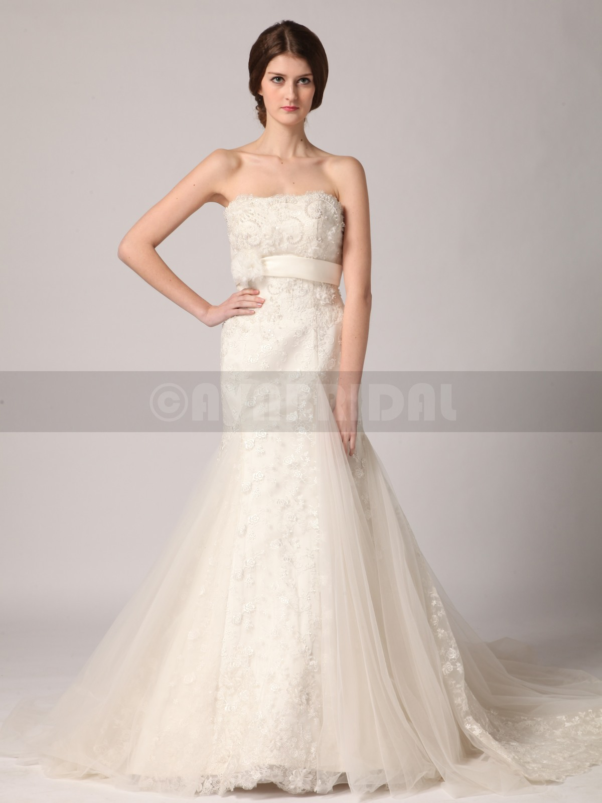 Elegant Wedding Dress - Janene - Front