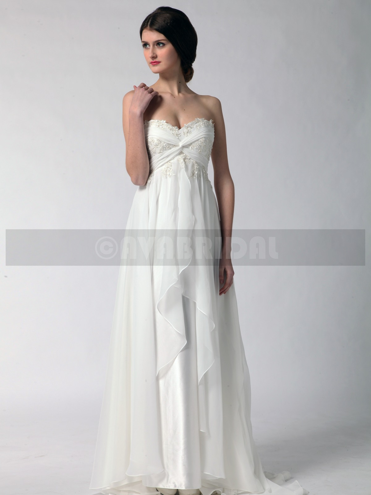 Grecian Goddess Wedding Dress - Stacey - Front