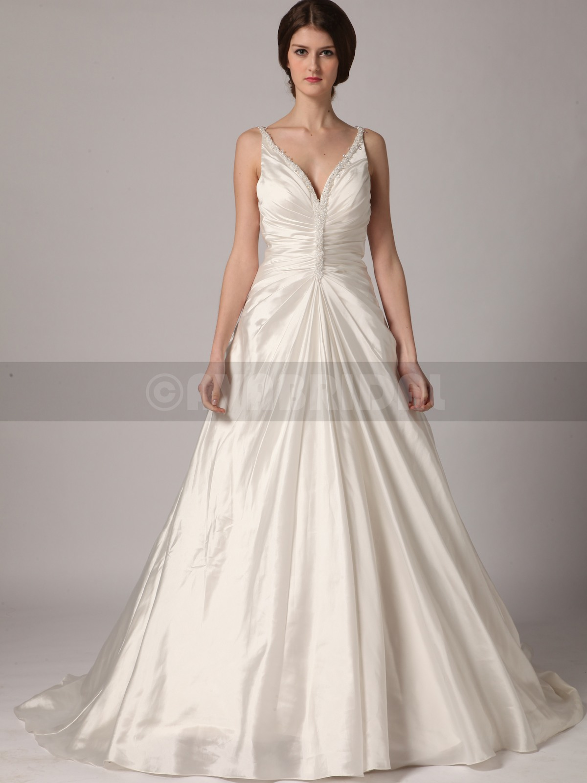 Fall Wedding Dress - Lindsay - Front