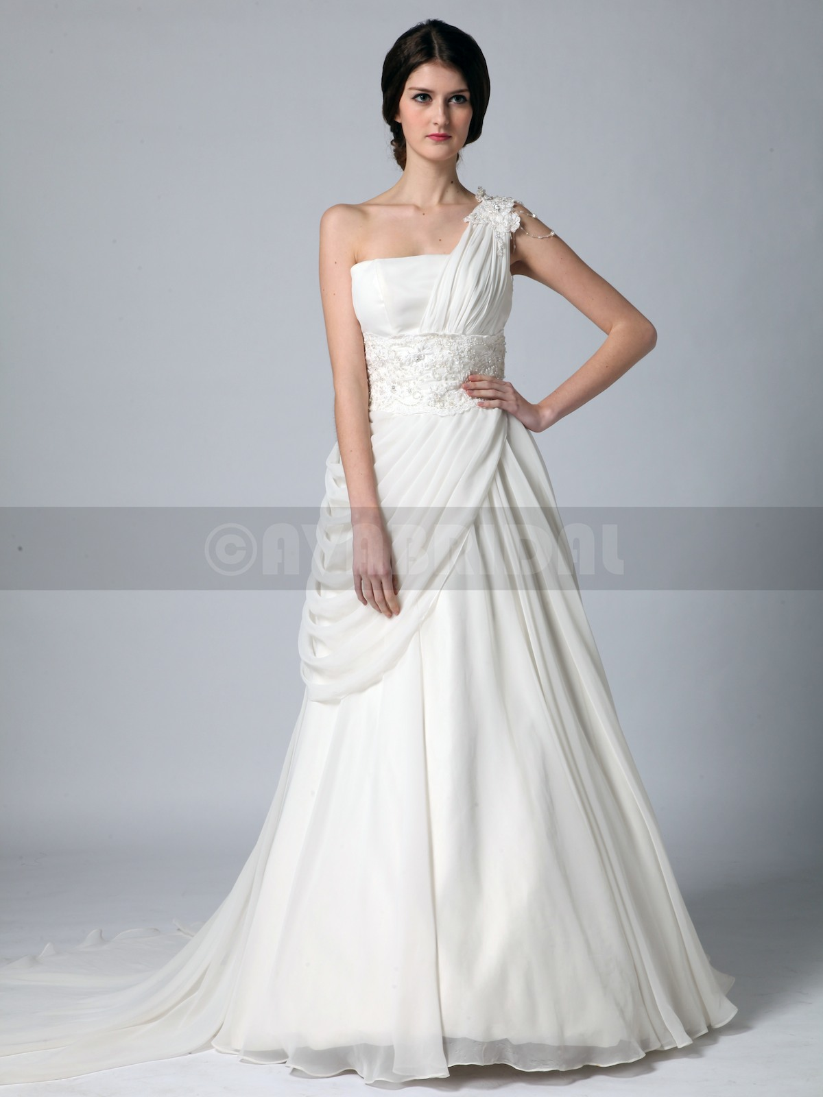 Grecian Goddess Wedding Dress - Zoe - Front
