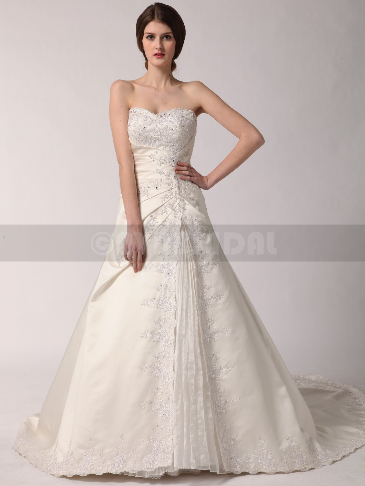 Winter Wedding Dress - Alison - Front