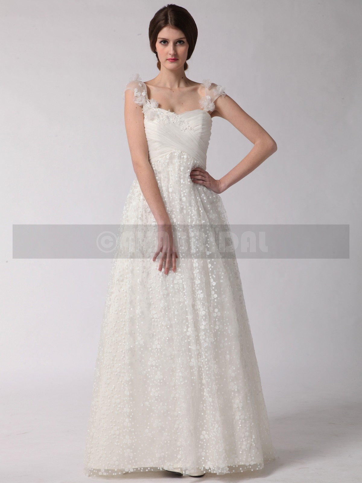 Lace Wedding Dress - Rosemary - Front