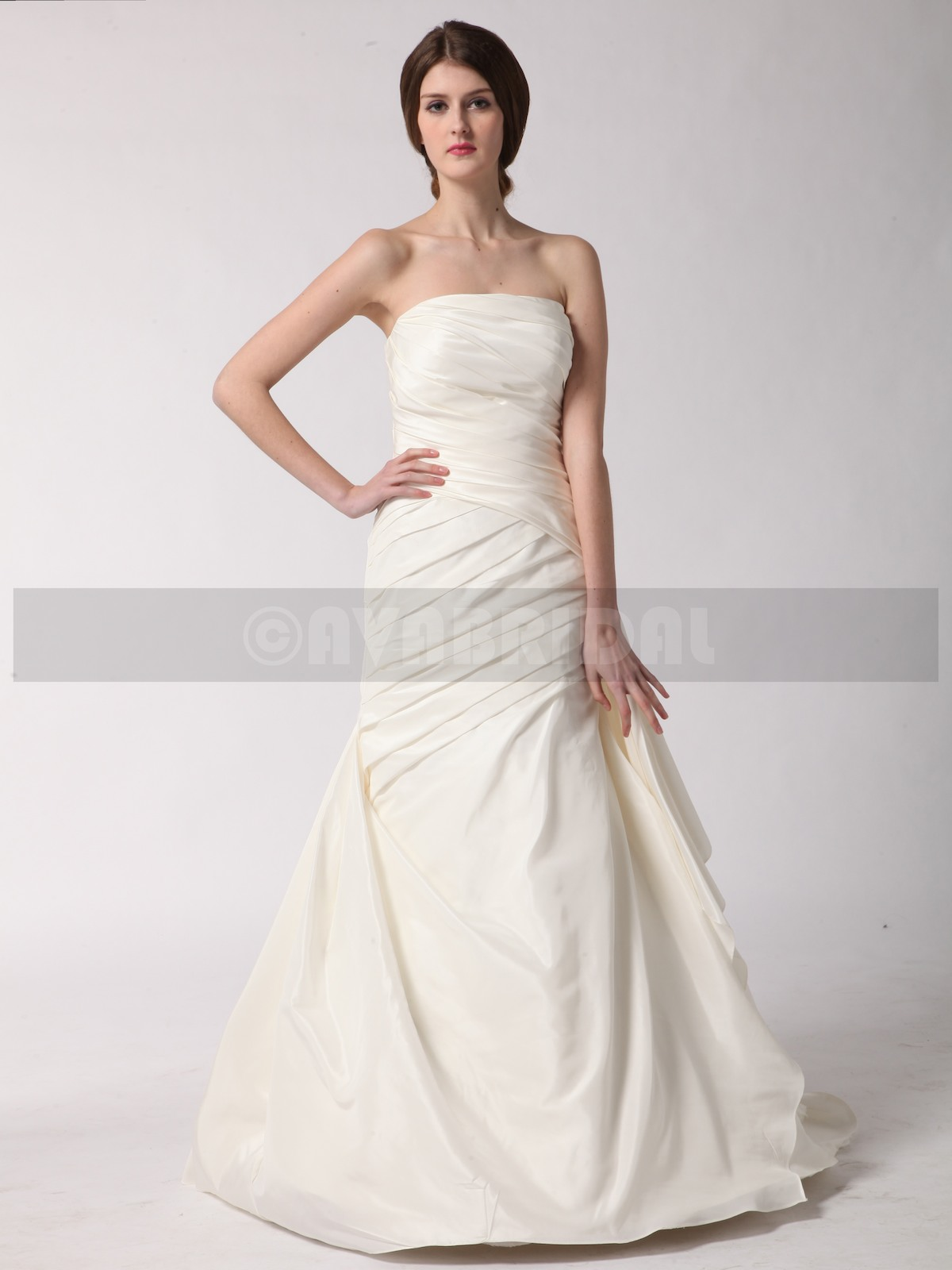 Simple Wedding Dress - Queenie - Front