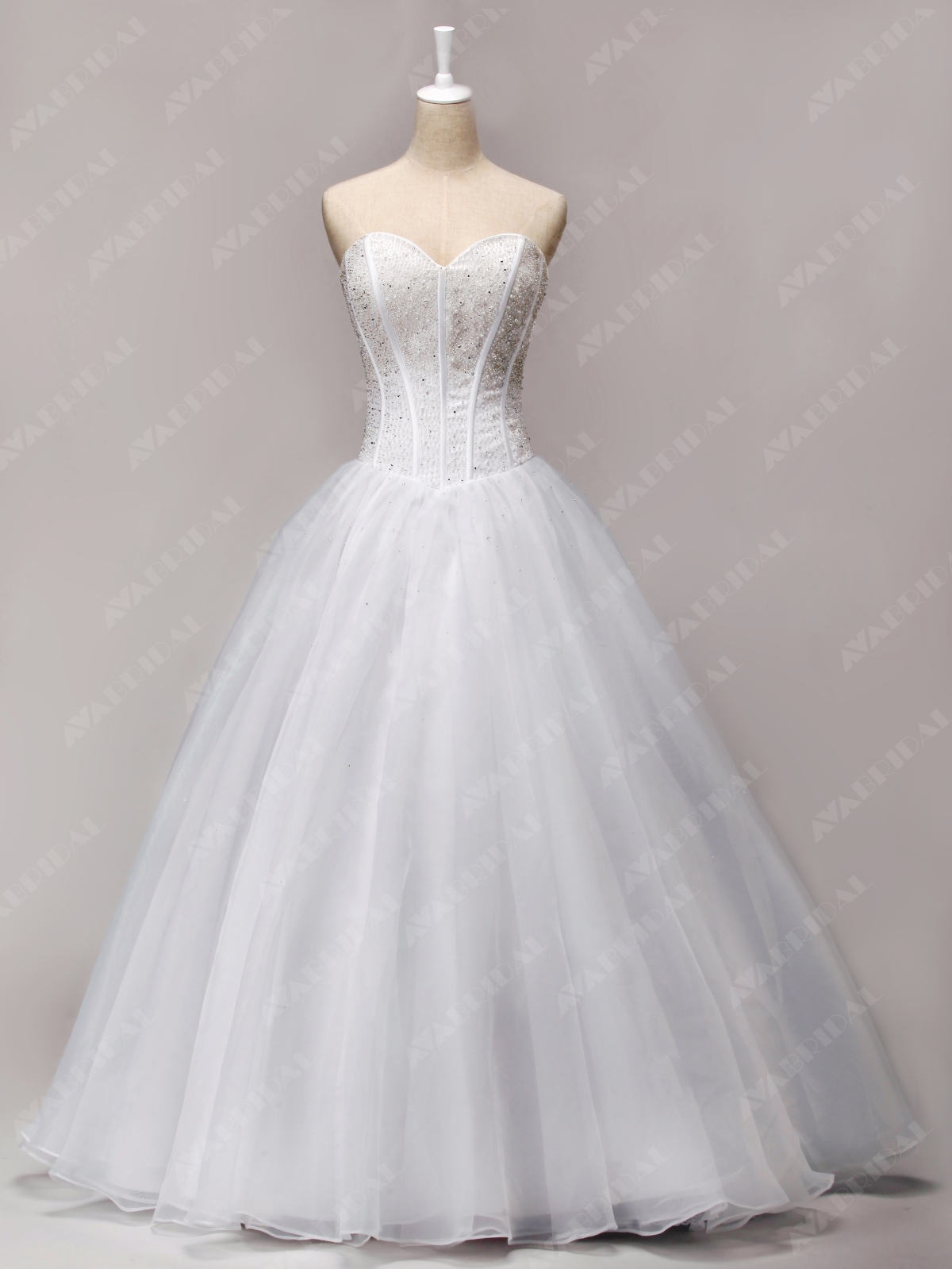 A-line Princess Wedding Dress - Abbie - Front