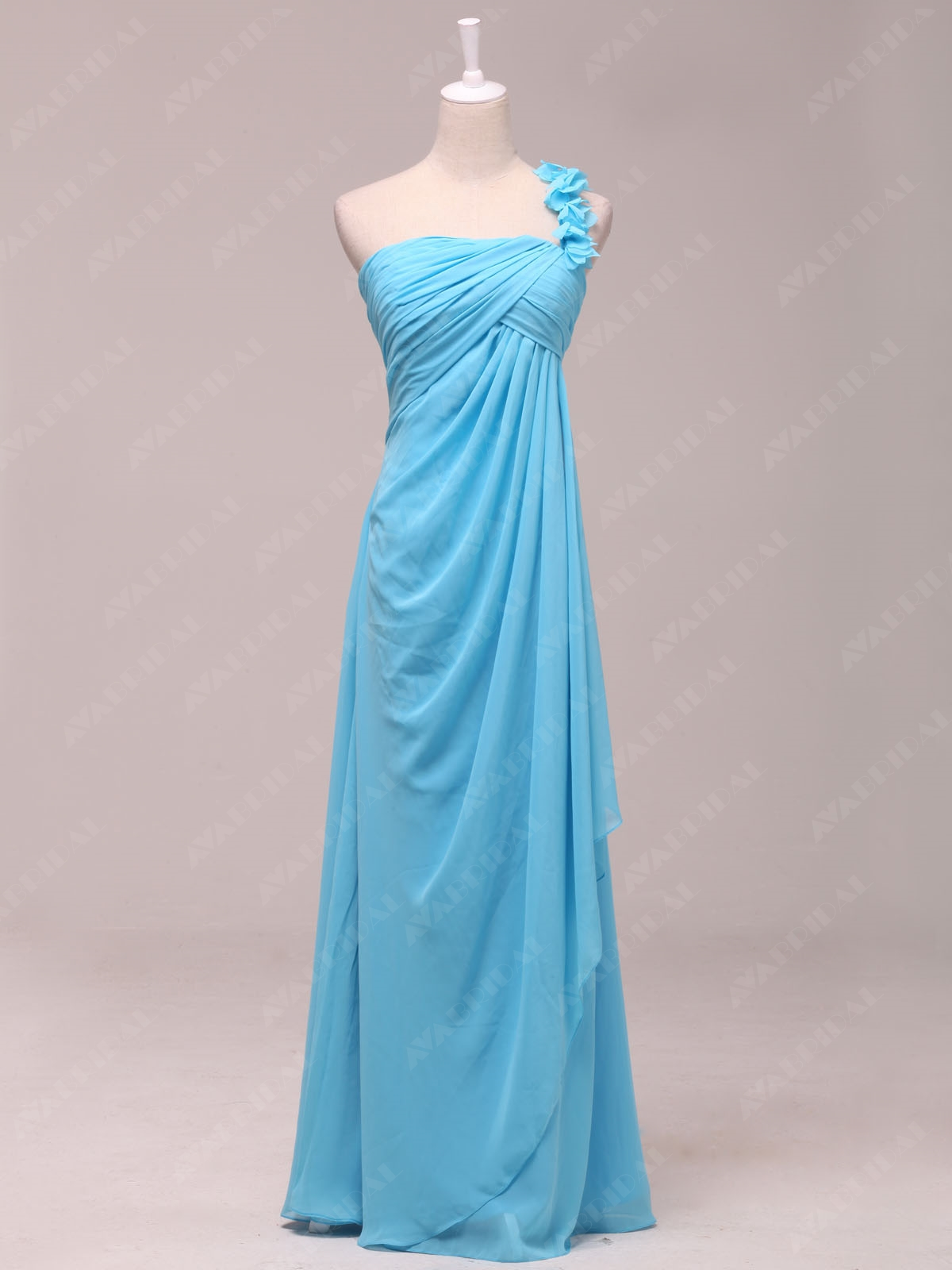Chic Sheath Chiffon Bridesmaid Dress B462-Front