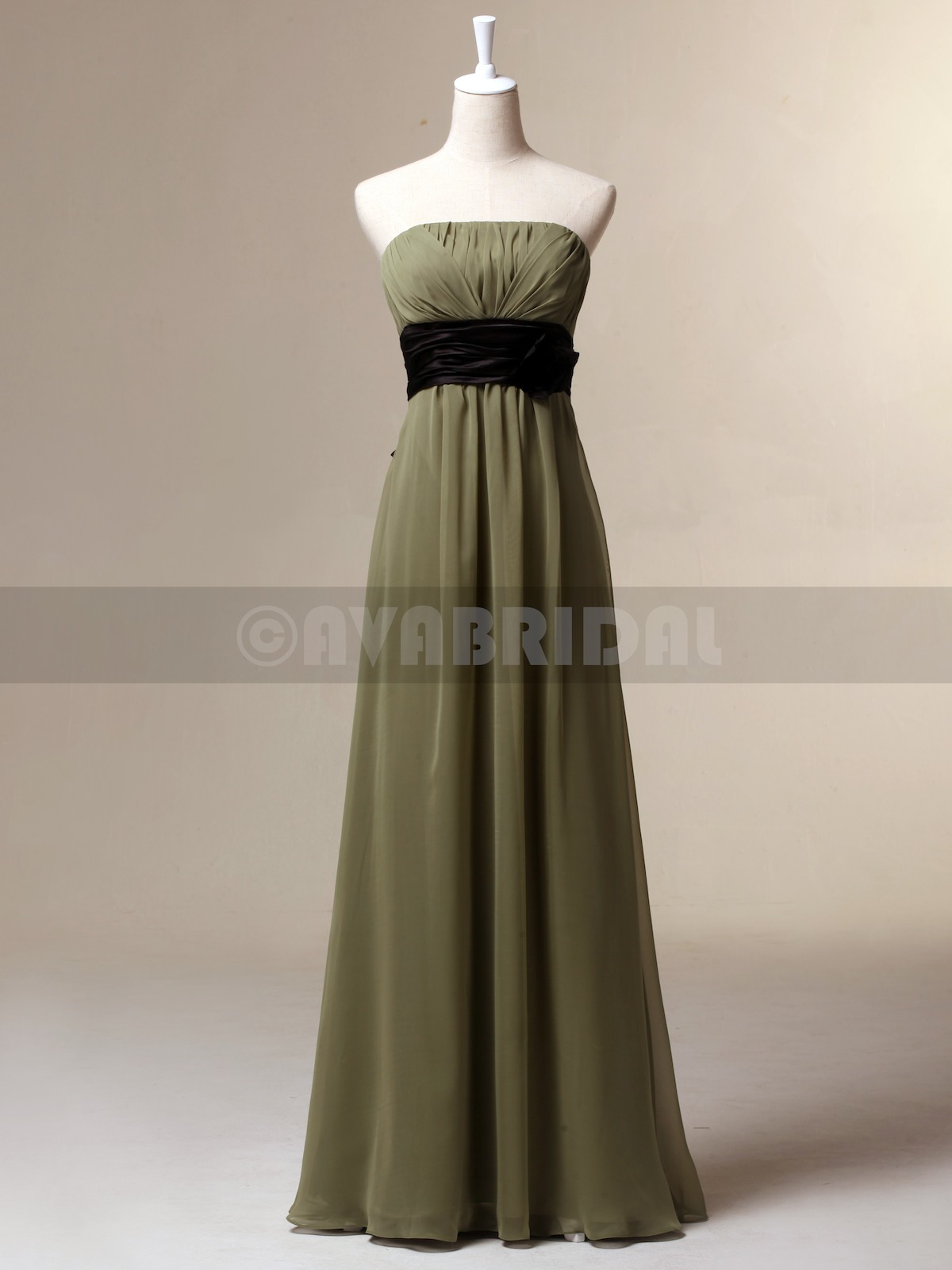 Beach Casual Slim Line Bridesmaid Dress B448-Front