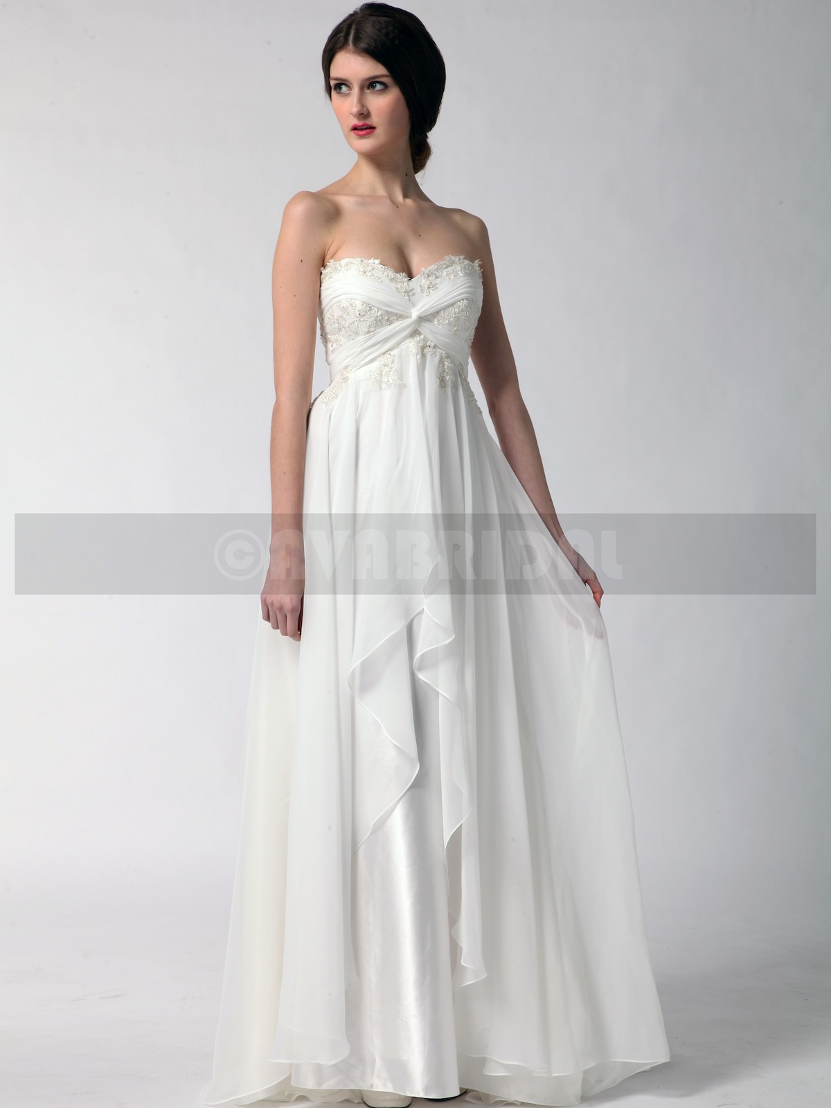 Grecian Goddess Wedding Dress - Stacey | Ava Bridal