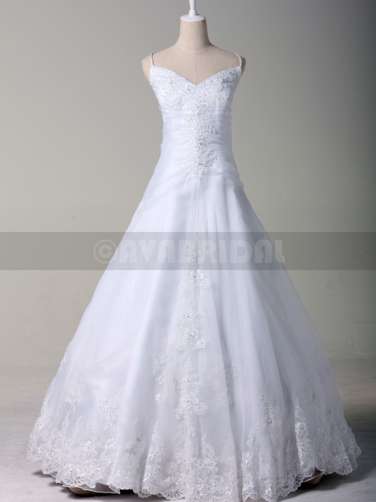 Simple Princess Bridal Gown W806-Front