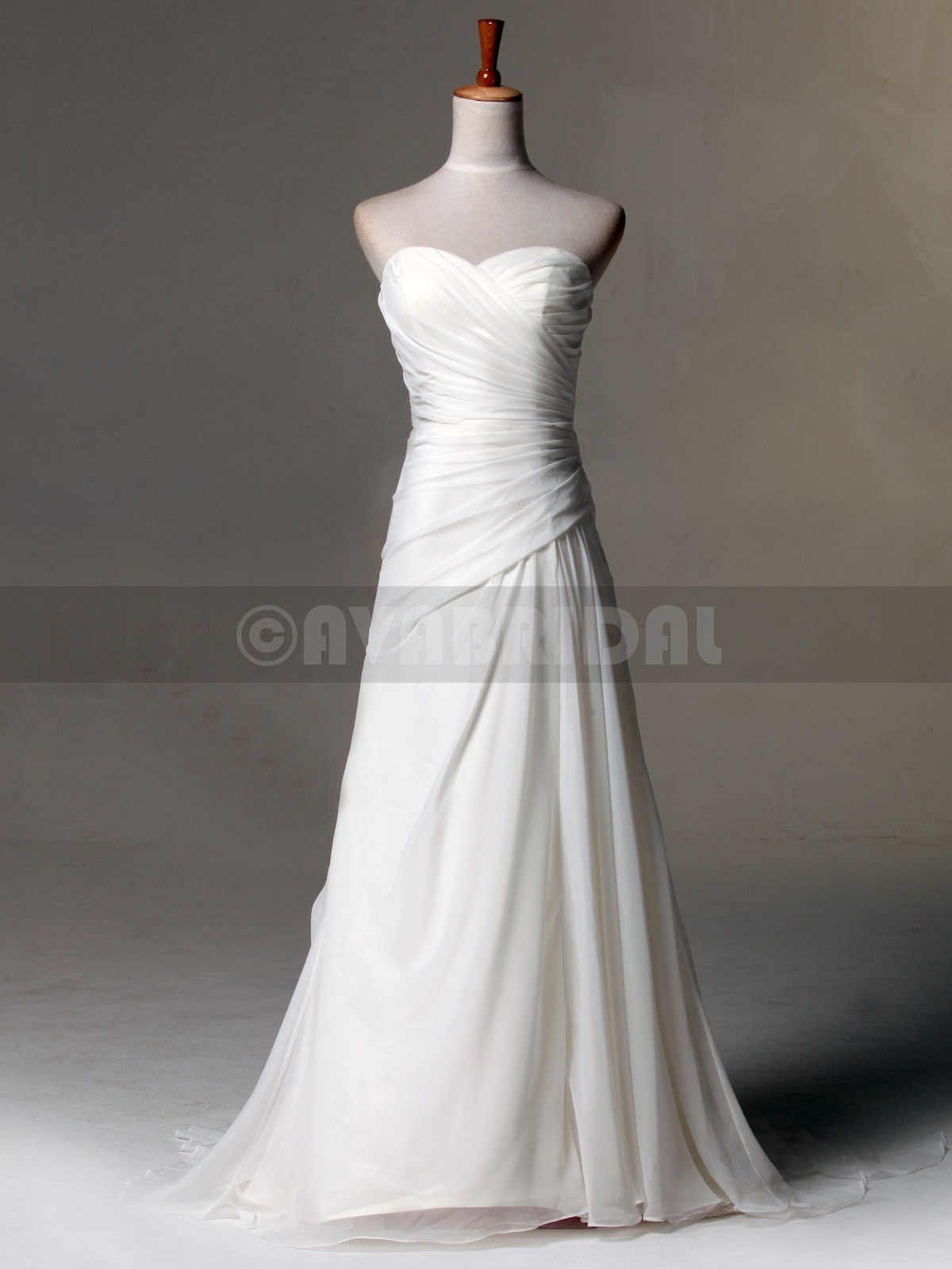 Slim Line Beach Casual Style Wedding Dress W819-front