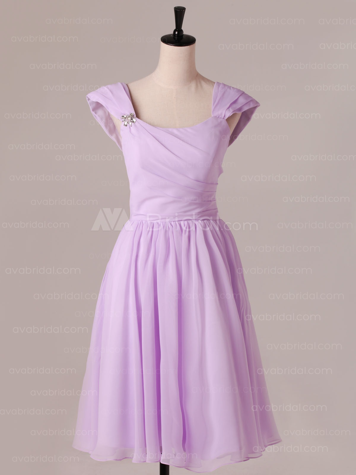 Classic Chiffon Bridesmaids dress B477-front