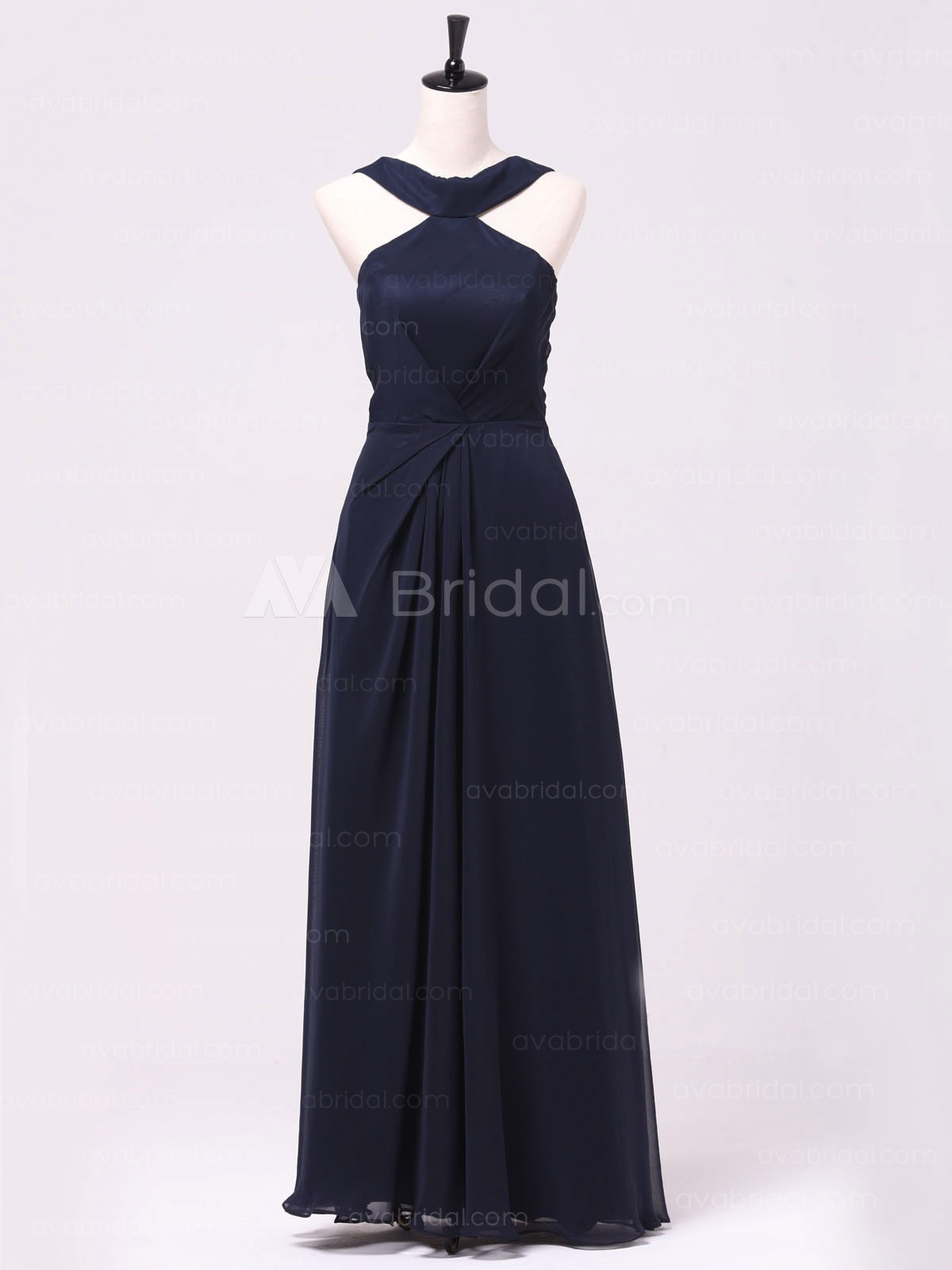 Vintage Inspired 1920's Style Chiffon Formal Dress B478-Front