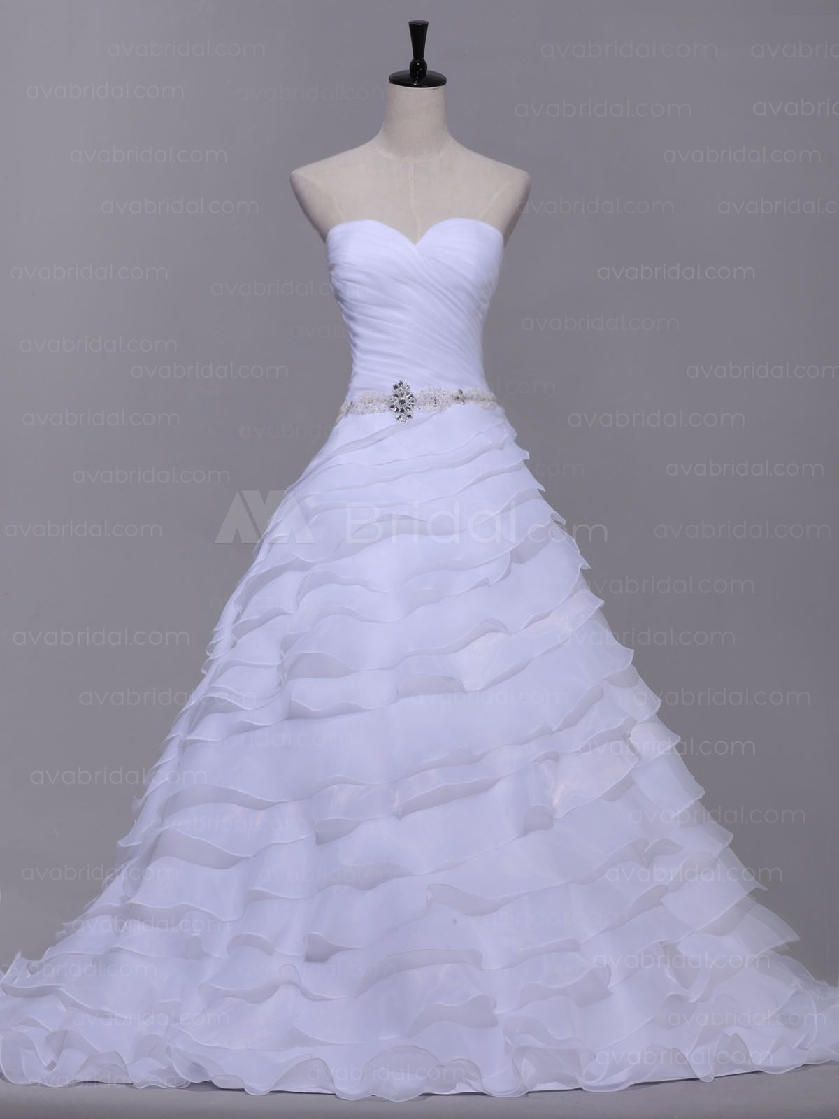 Chic Tiered wedding dress W869-front