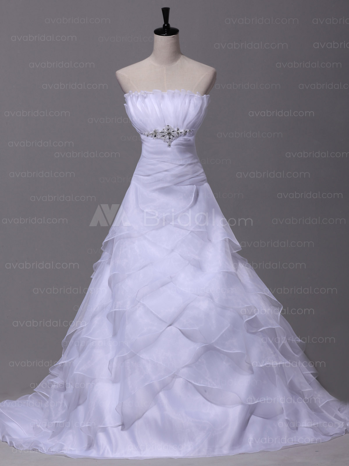 Glamorous Layered Organza wedding dress W870-front