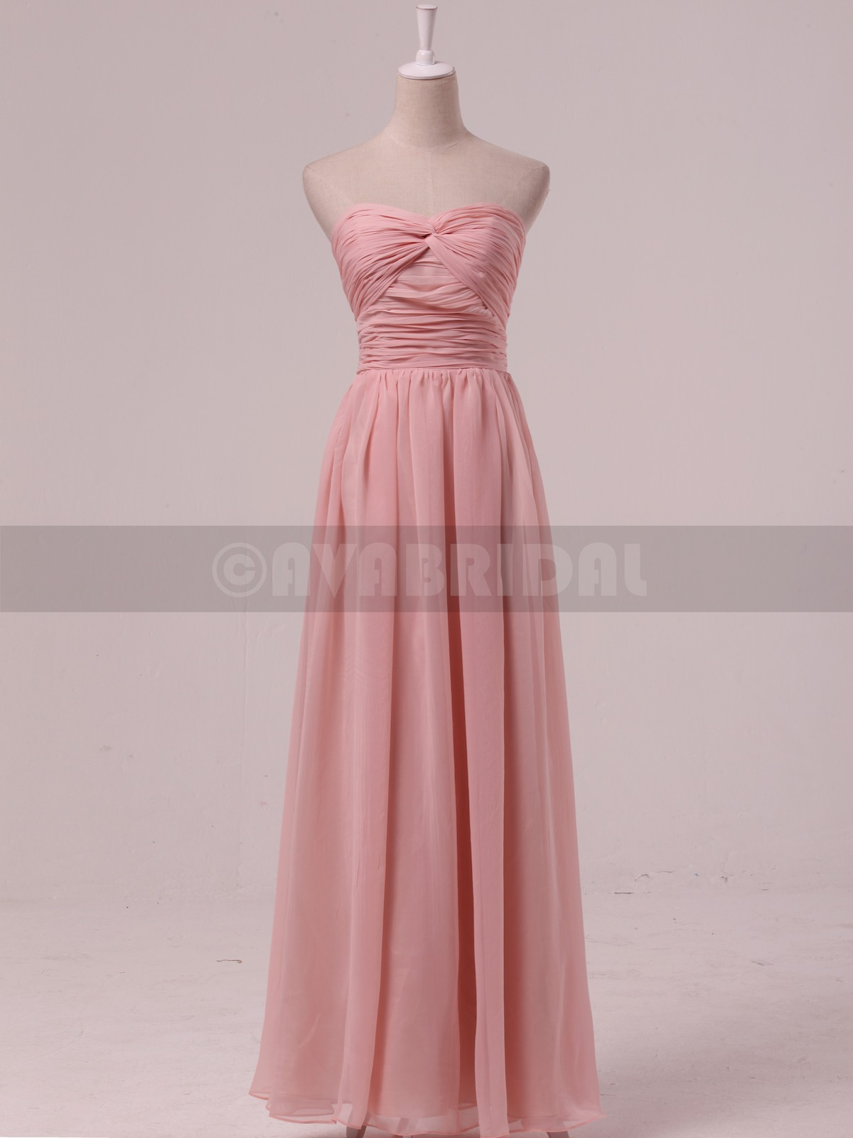 Chic Chiffon Bridesmaid Dress B469-Front