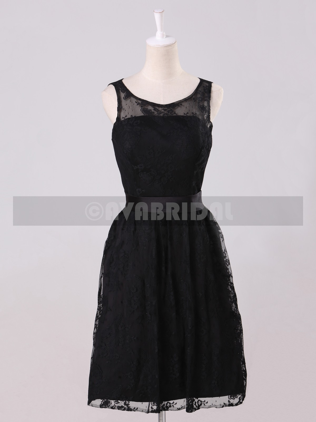 Vintage Lace Bridesmaids dress B474-front