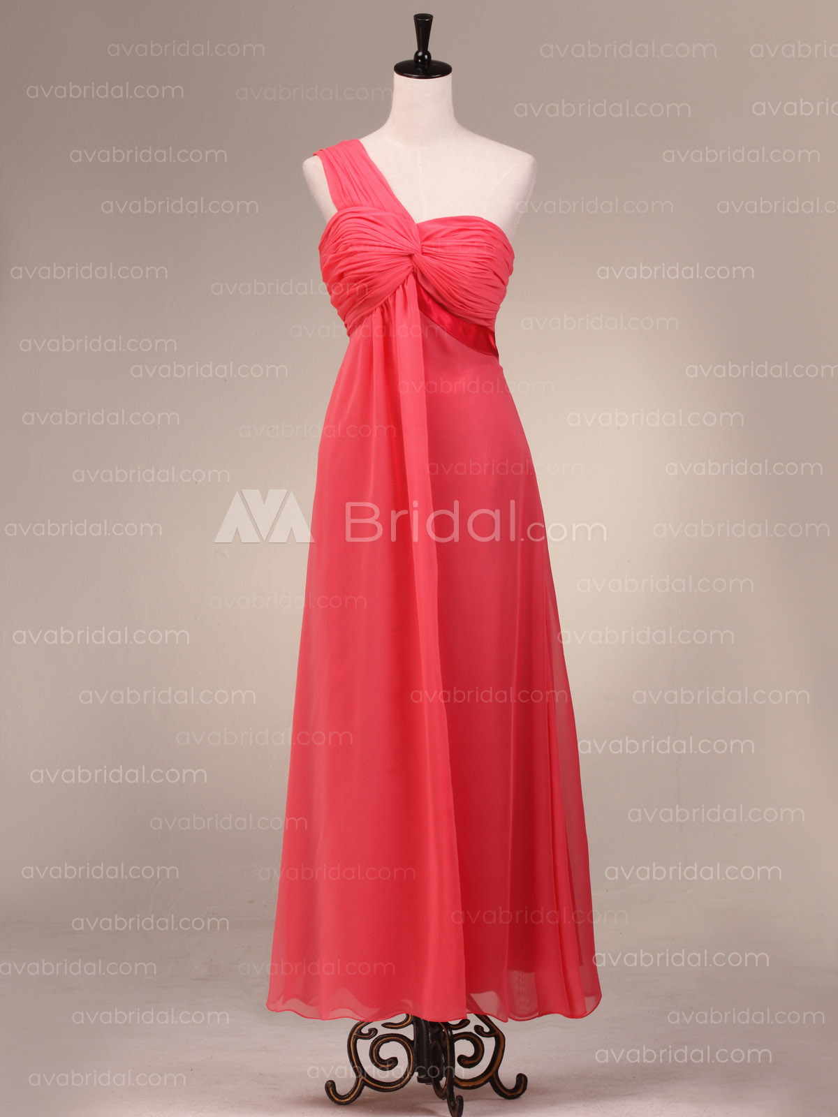 Grecian Goddess Chiffon Bridesmaid Dress B483-front