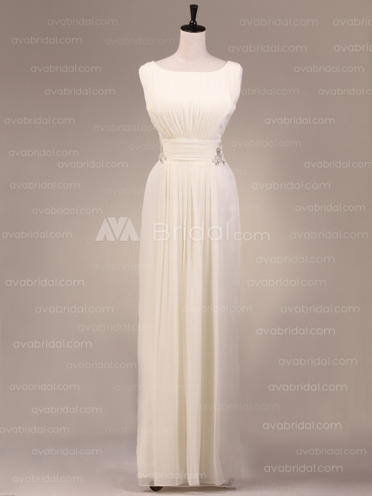 Vintage Sheath Bridesmaids dress B484-front