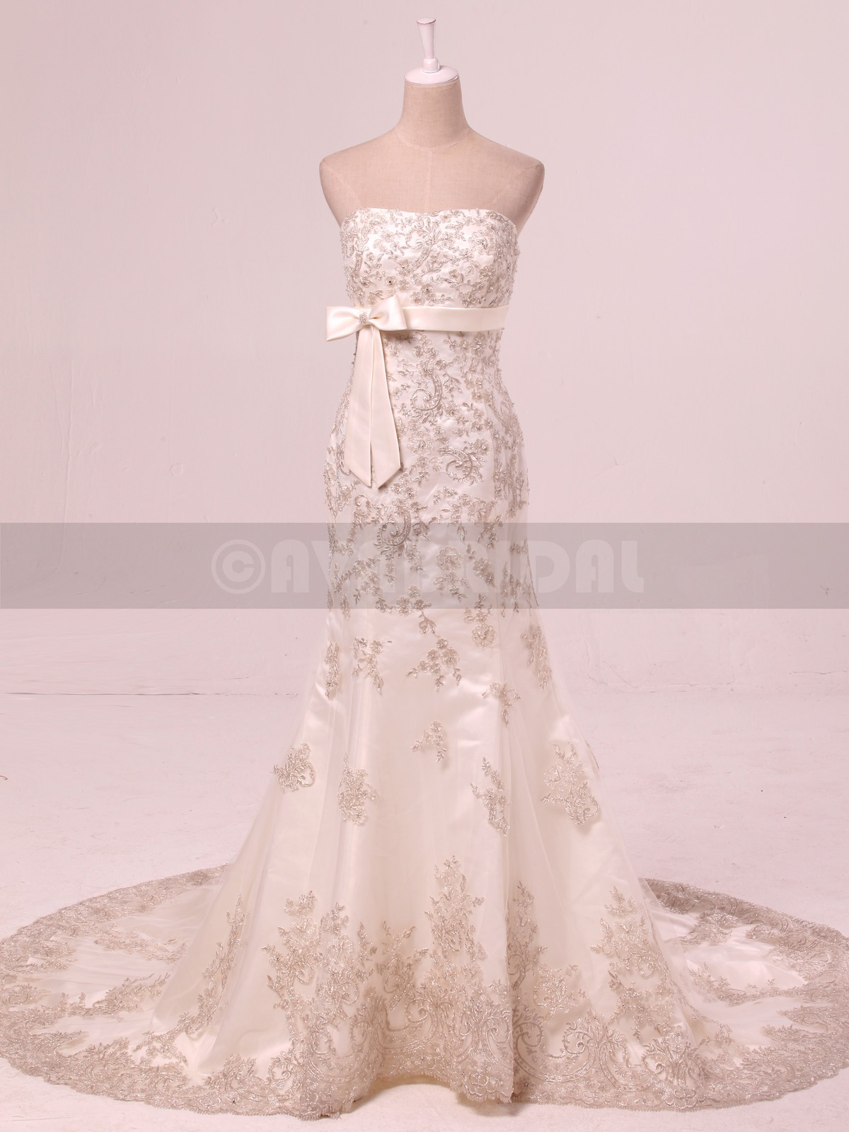 Lace Wedding Dress - Beverley - Front
