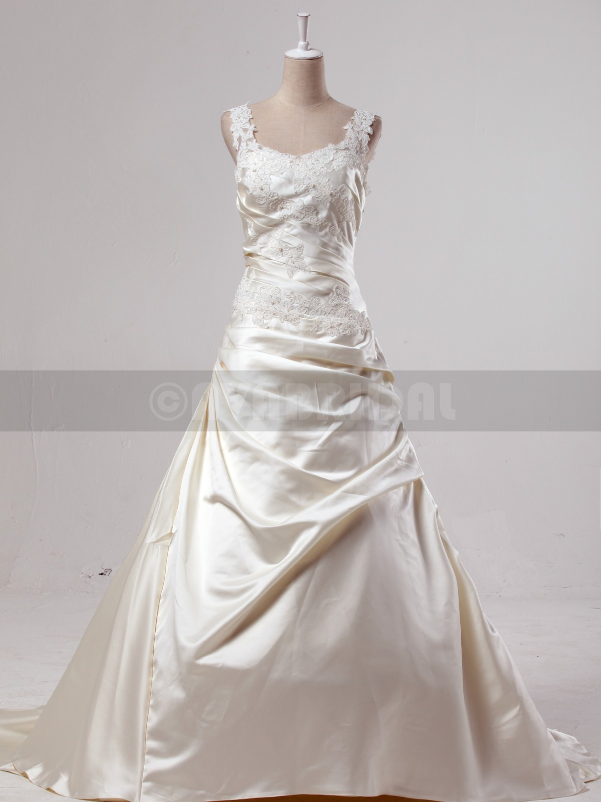 Fall Wedding Dress - Ursula - Front
