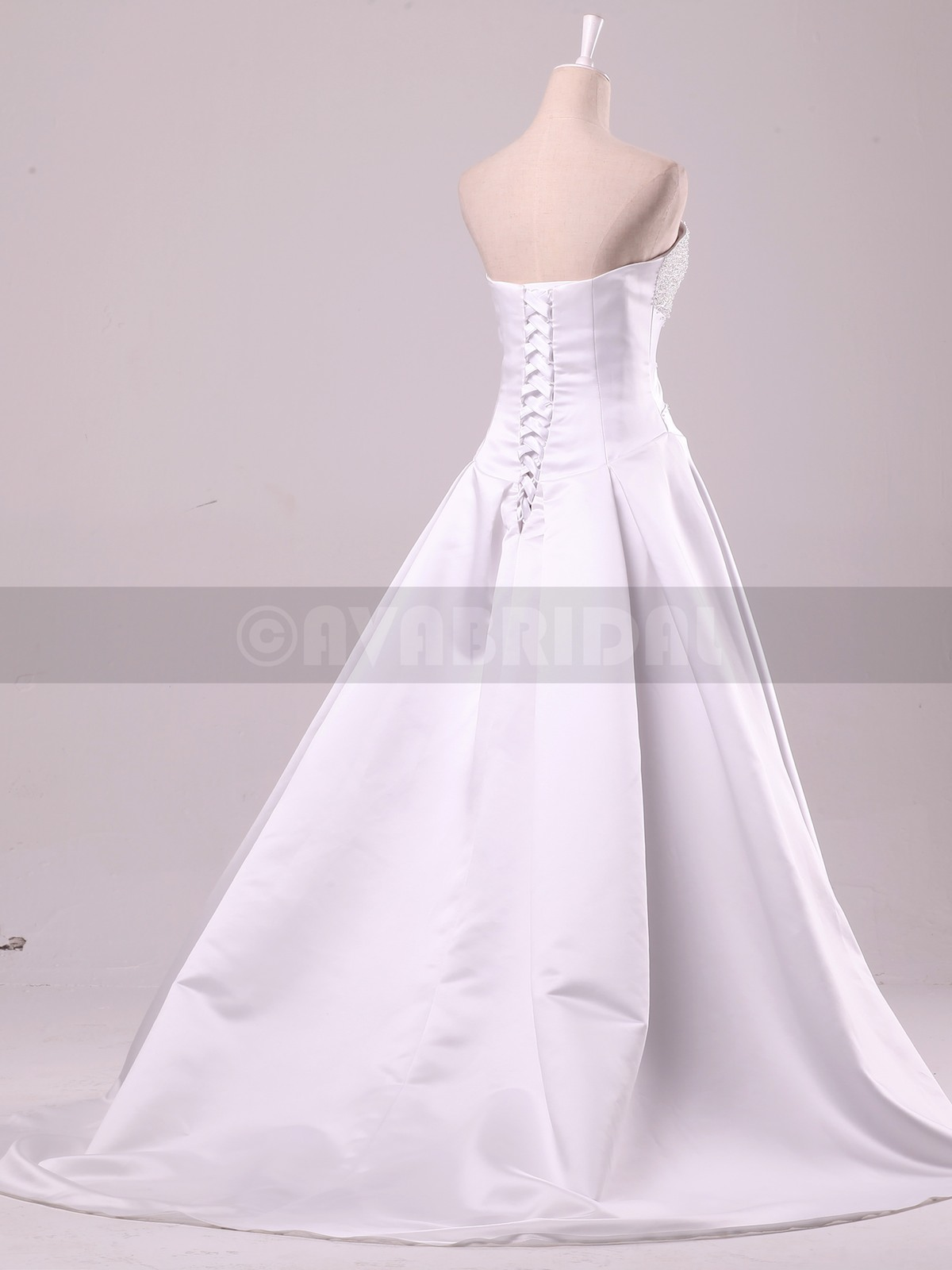 Plus Size Wedding Dresses Va : Stunning beaded satin bridal gown ceceilia