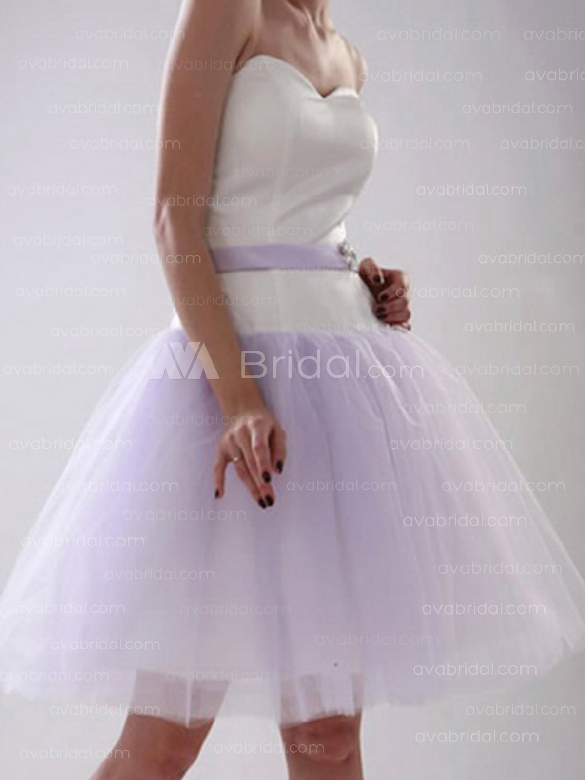 Casual Satin Bridesmaid Dress B338-Front