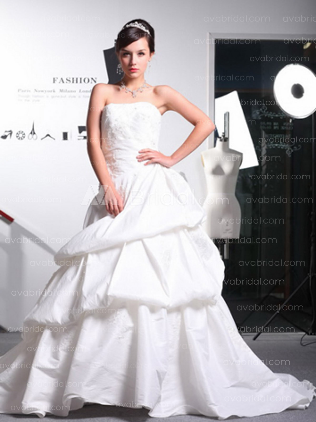Modern Bridal Gown - Shelby - Front