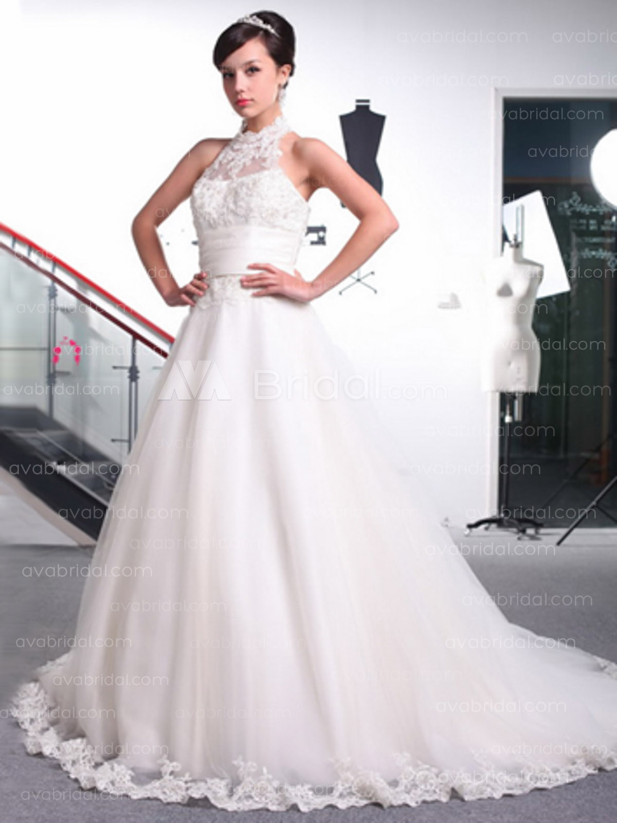 Vintage Inspired Wedding Gown - Angela - Front