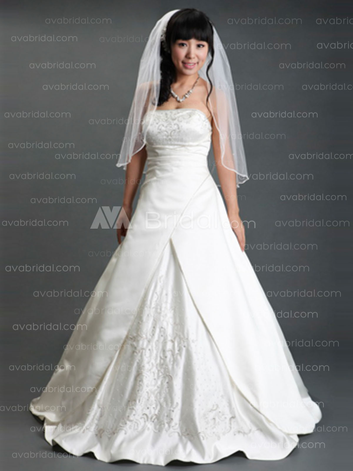 Modest Bridal Gown - Merlyn - Front
