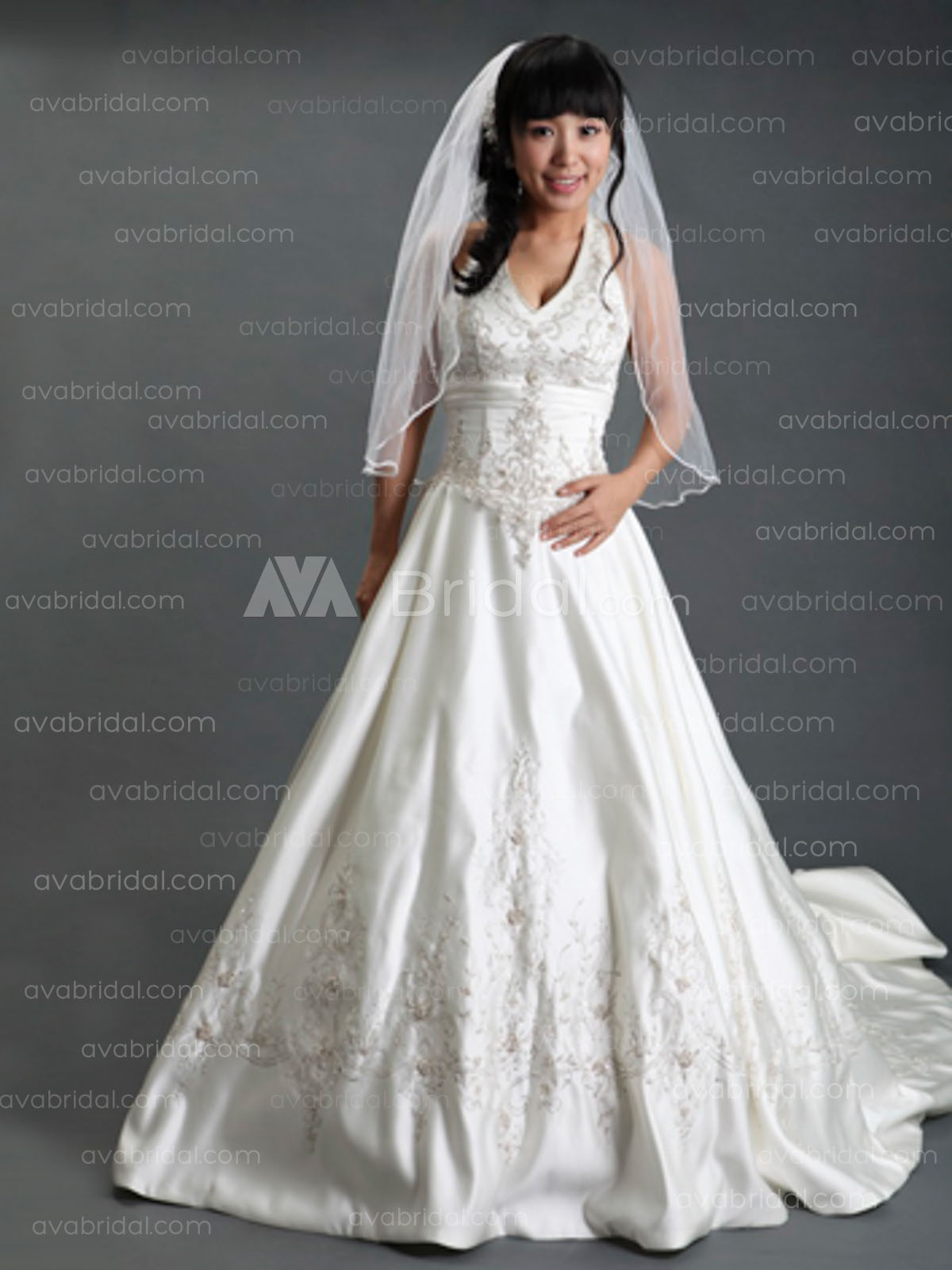 Modest Bridal Gown - Cameryn - Front