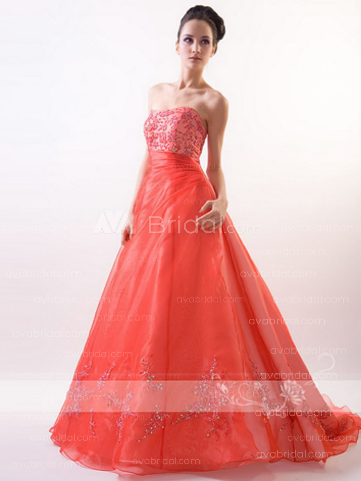 Red Wedding Gown - Lotus - Front