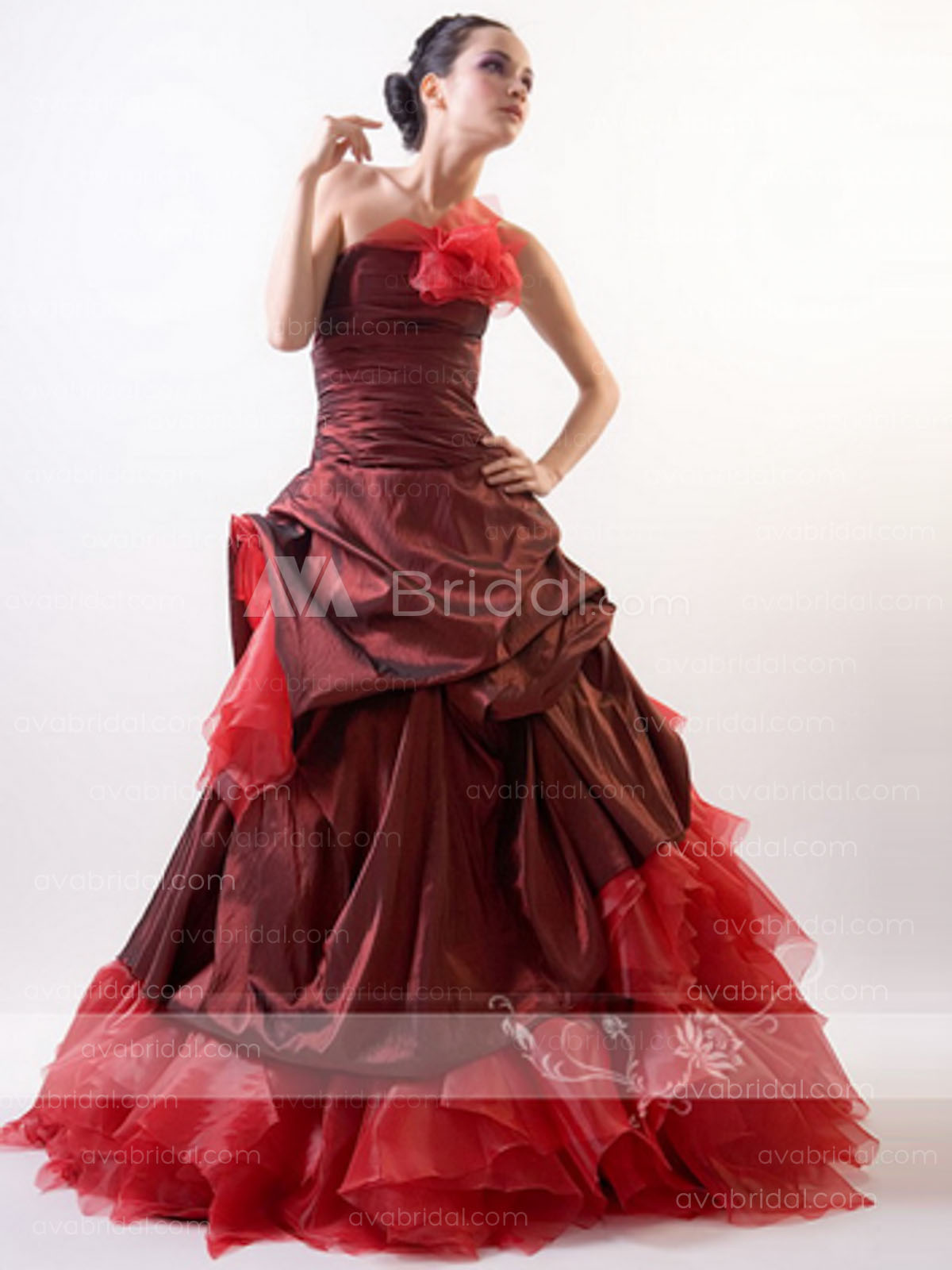 Red Wedding Gown - Cindy - Front