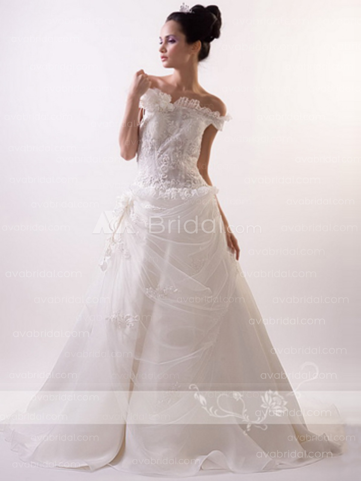 Romantic Wedding Gown - Jessifer -front