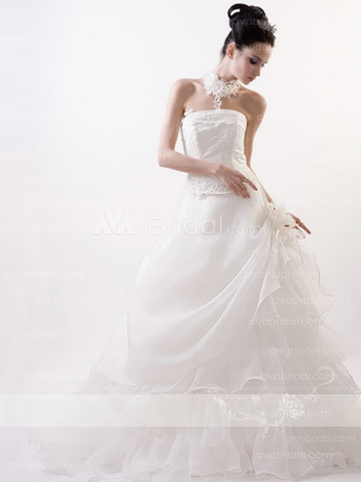 Ball Gown Organza Wedding Dress W657-Front