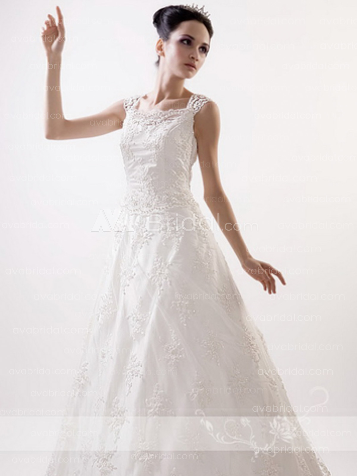 Modest Lace Bridal Gown - Olita - Front