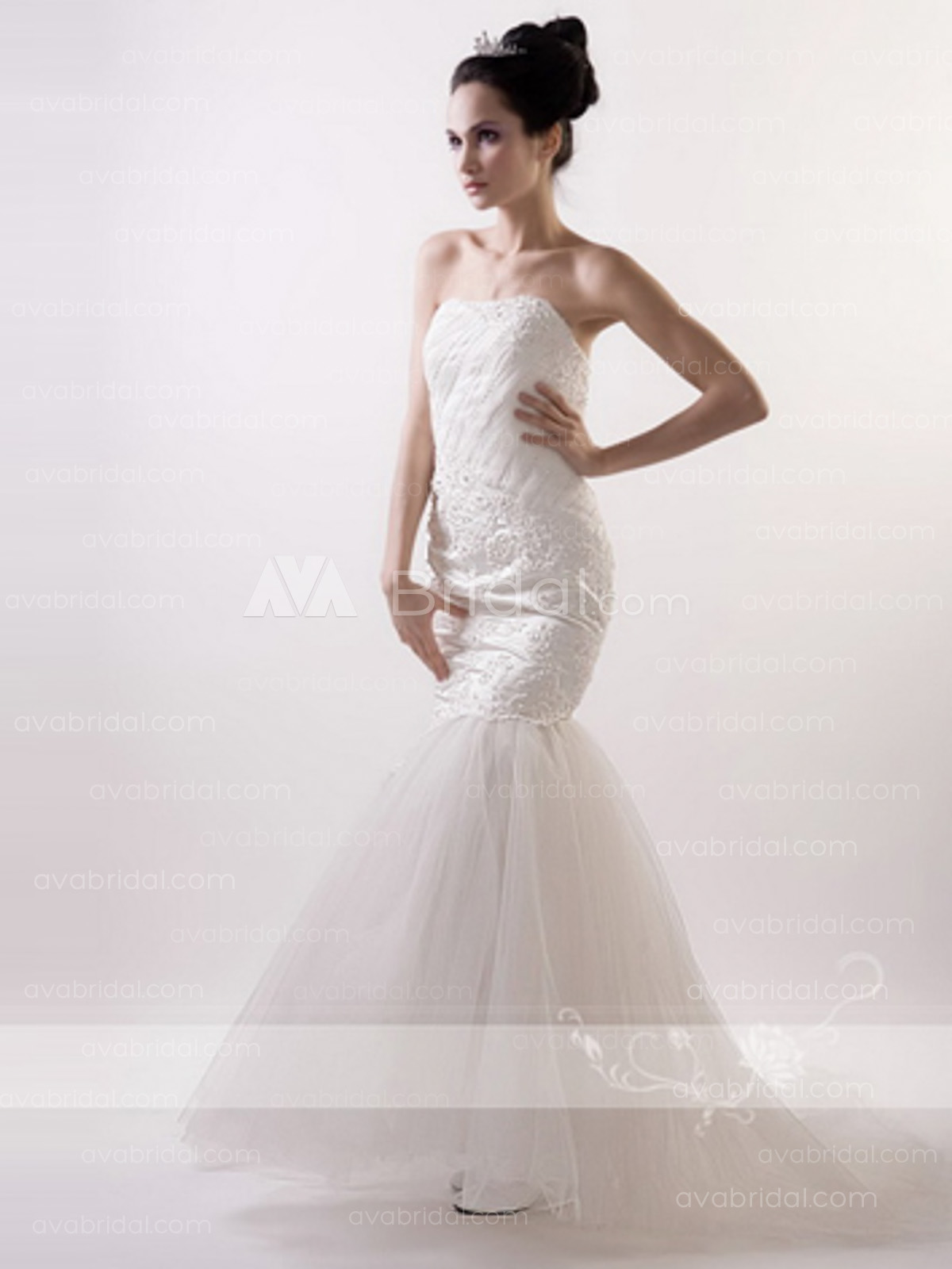 Mermaid Chic Bridal Dress - Estee - Front