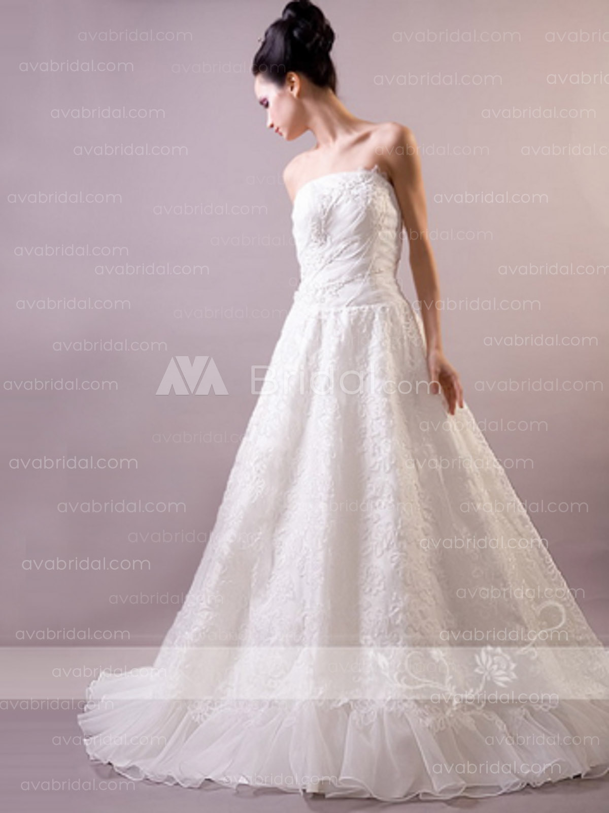 Lace Wedding Gown - Inis - Front