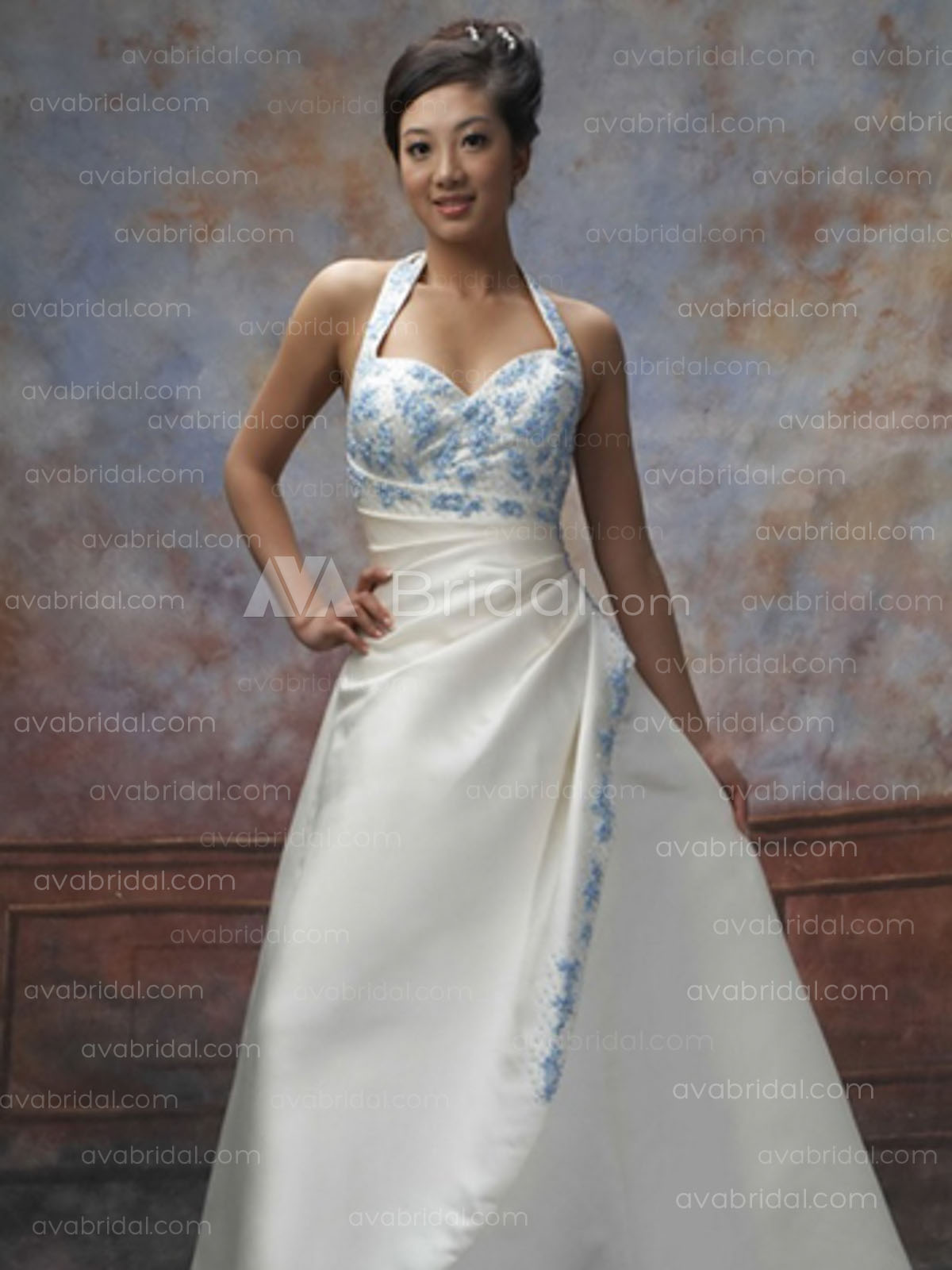 Coloured Wedding Gown - Jozy - Front