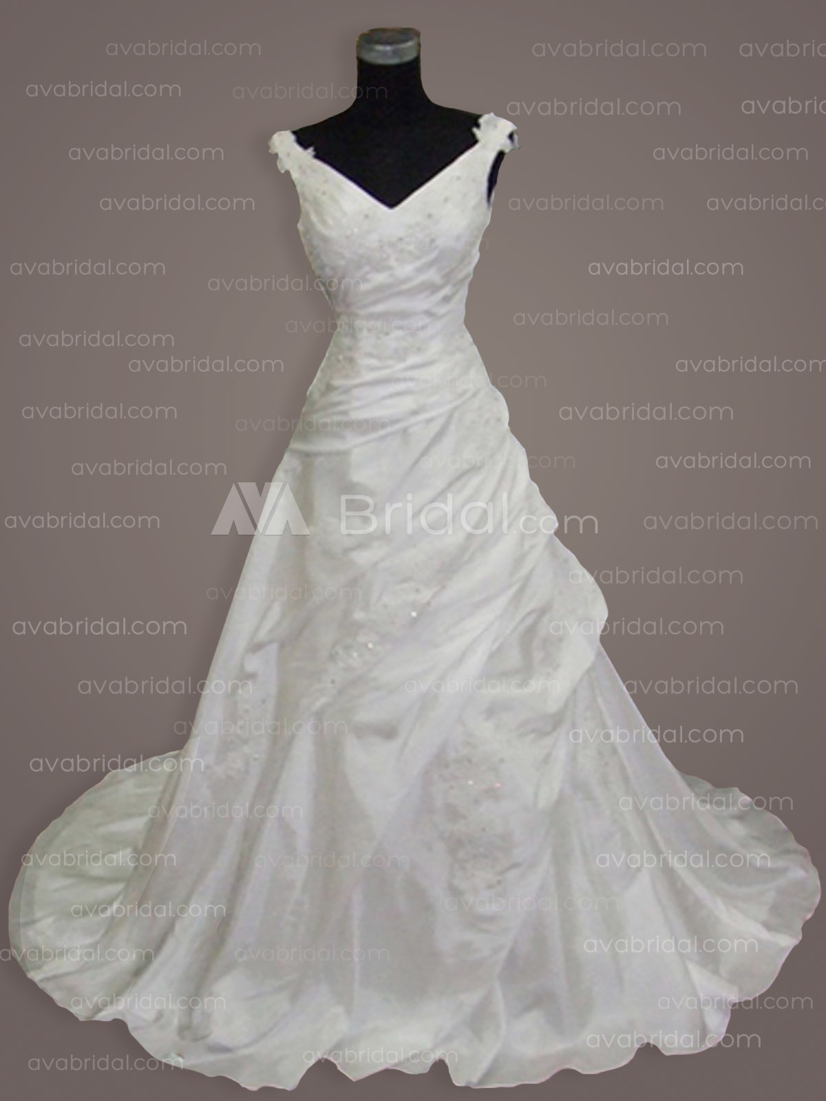 Plus Size Wedding Gown - Silvia - Front