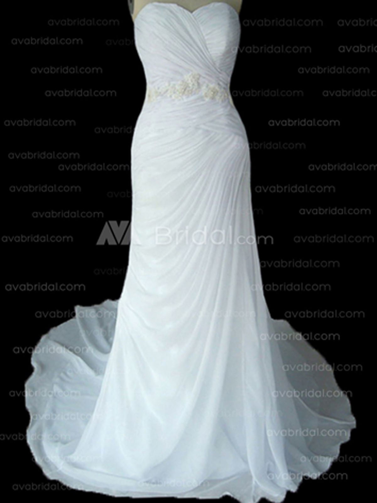Simple Chic Wedding Dress - Heather - Front