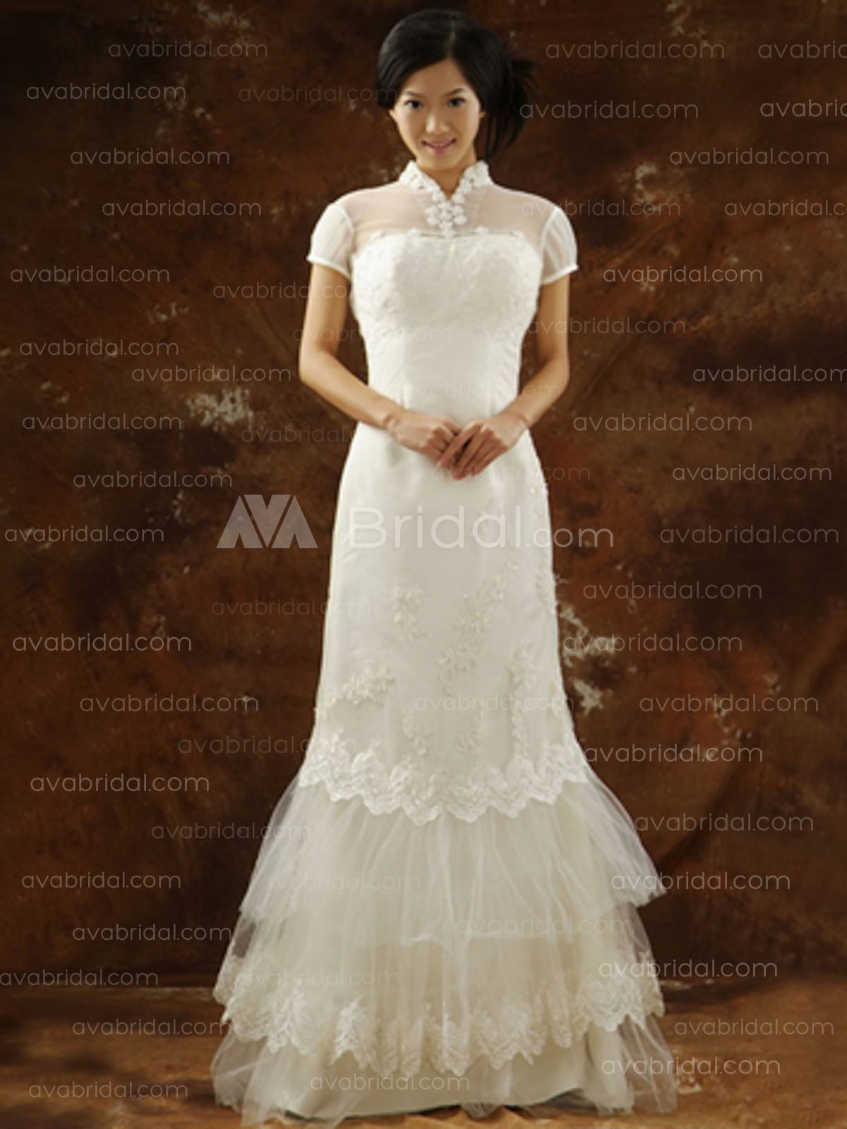 Asian Style Wedding Dress - Salah - Front